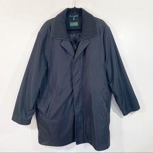 Lauren Ralph Lauren black quilted rain coat 48r
